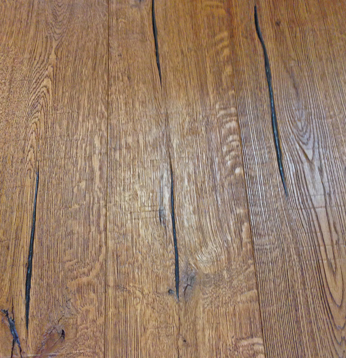Vintage oak wire brushed white oak root beer stain eco for Ecological flooring