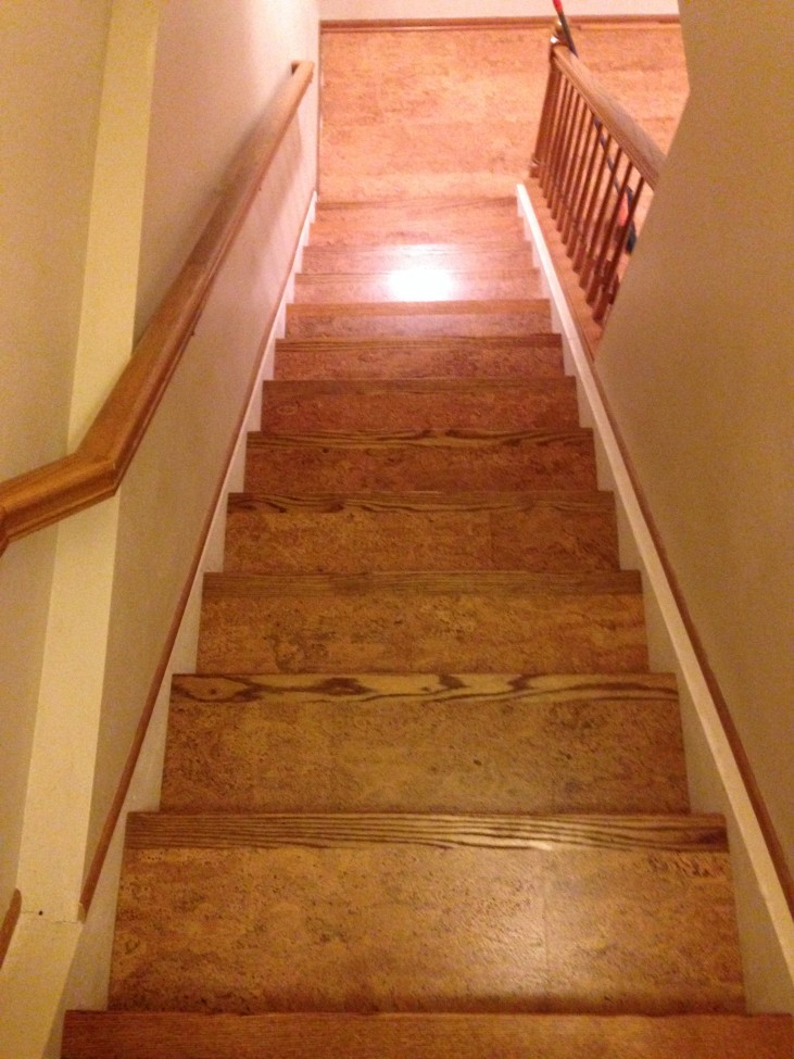 Corkifying your stair case eco friendly flooring Friendly floors