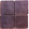 Recycled Cement Tile, Swiss Chocolate Brown, smooth finish